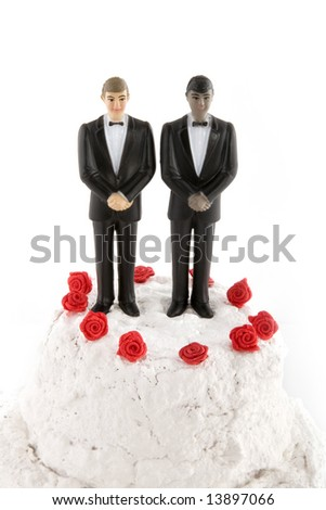 gay wedding with two grooms