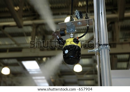 Gaz flowing through the valve