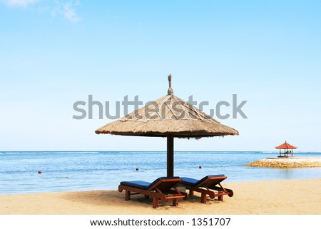 Gazebo at beautiful beach
