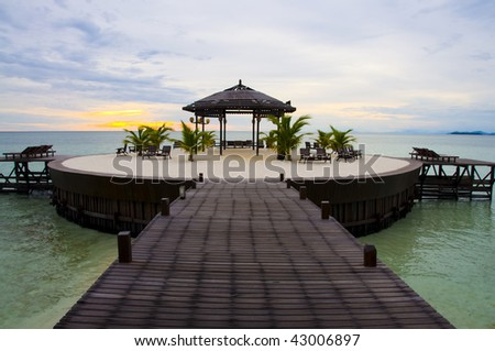 Gazebo by the sea