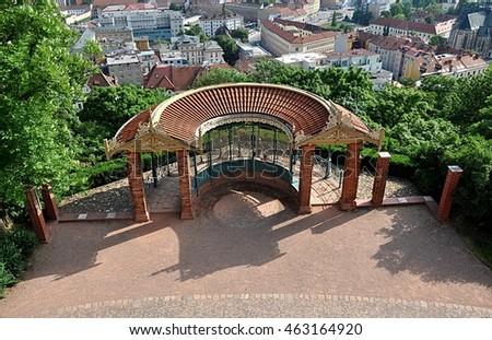 gazebo in the park, the city of Brno, Czech Republic, Europe