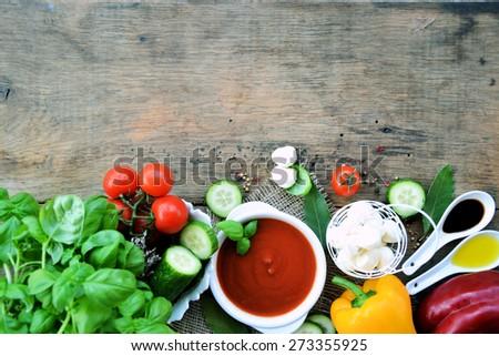 gazpacho, vegetarian food, background