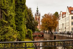 Gdansk Old town. Autumn city landscape.