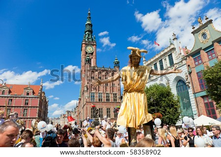 GDANSK, POLAND - JULY 31: The ceremonial opening of the Fair St. Dominic. Fair tradition dates back 750 years and from 1260 he has been held in Gdansk, July 31, 2010 in Gdansk.