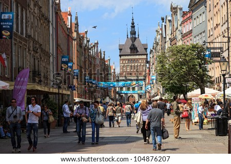 gdansk  poland   june 11  city...