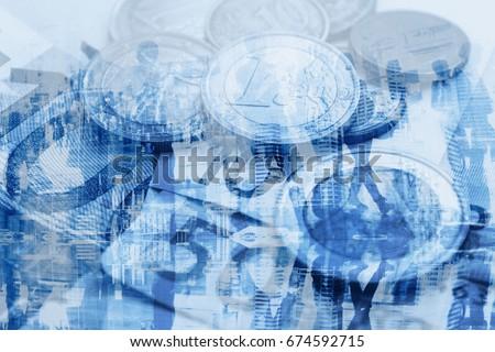 GDP economy concept, money and population Foto stock ©