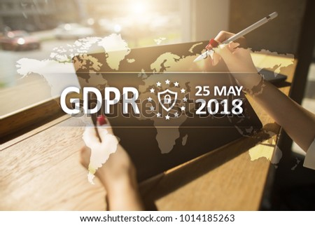 GDPR. Data Protection Regulation. Cyber security and privacy. #1014185263
