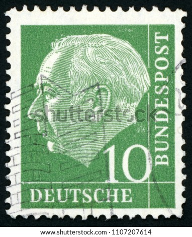 gdr   circa 1955  post stamp...