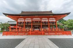 Ge-haiden (Outer worship hall) at Fushimi Inari Taisha Shinto shrine, Fushimi-ku, Kyoto