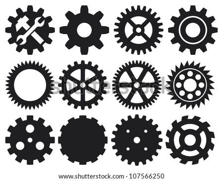 gear collection machine gear (wheel cogwheel, set of gear wheels, collection of gear)