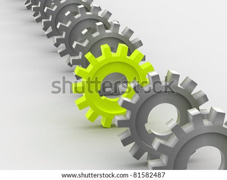 Gear 3d - stock photo
