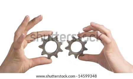 gear in hand