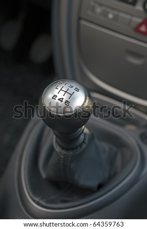 gear lever - stock photo