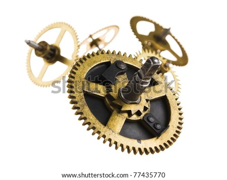 gear of the clock isolated on...