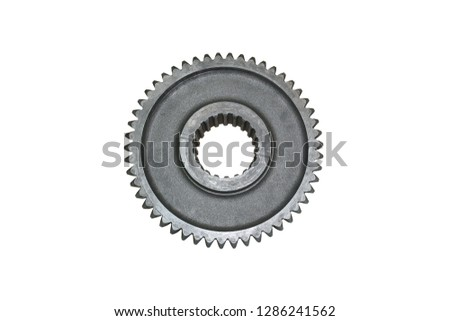 gear of the first gear and reverse gear  isolated on white background #1286241562