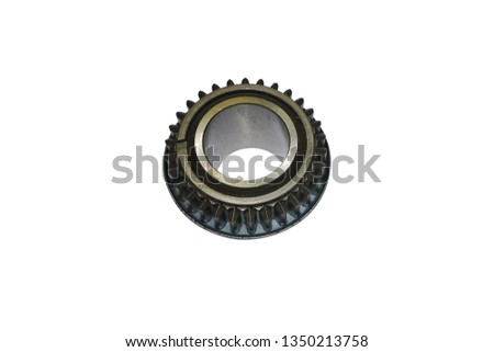 gear of the first gear and reverse gear of the tractor on an isolated white background