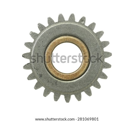 Gear wheel isolated on white background