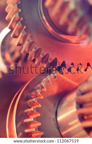 gear wheels close-up