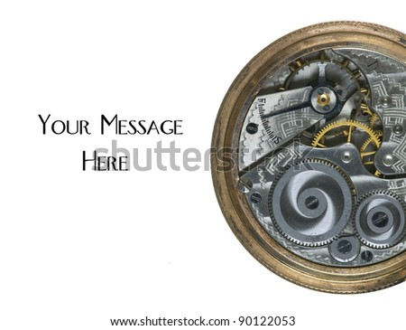 Gearing mechanism inside a 100 Year old antique pocket watch