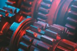 Gears. Cog. Machine part.