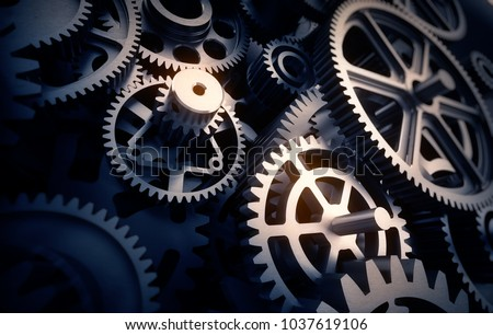 gears detail, 3d illustration