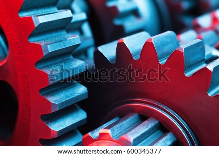 Gears. Machine part.