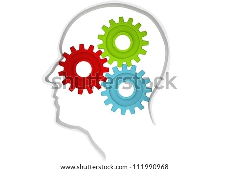 Gears of mind - stock photo