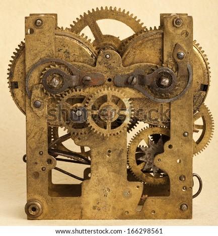 Gears of vintage mechanism