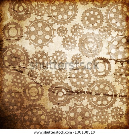 Gears vintage background