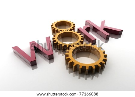 gears with work - stock photo
