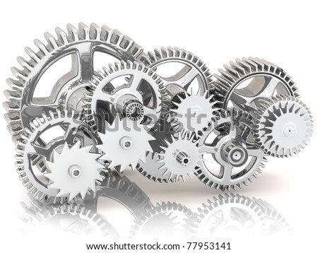 Gears. Work concept.