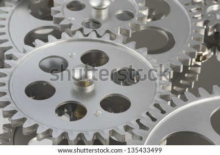 Gears Working Together - stock photo