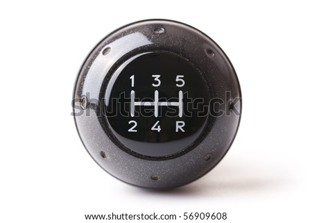 gearshift on white background