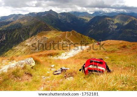 Gebirgsstürmische Landschaft - stock photo