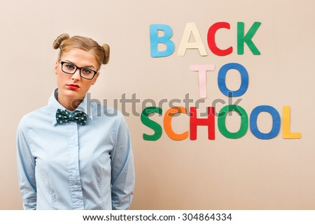 Geek girl is sad and angry because she has to go back to school.I don\'t want go to school