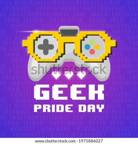 Geek Pride Day. purple color abstract background Сток-фото ©