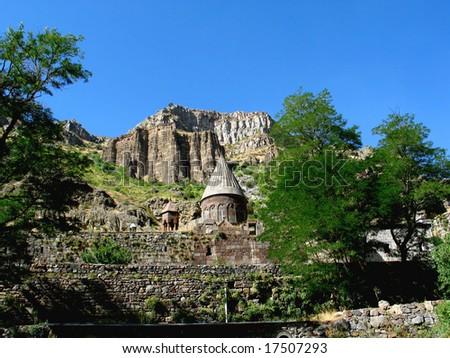 geghard monastery,armenia - stock photo