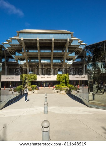 Geisel Library is the main library building of the University of California, San Diego Library. It is named in honor of Audrey and Theodor Seuss Geisel, better known as Dr. Seuss.