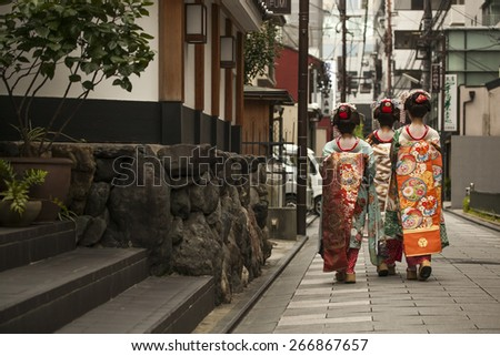 Geisha in Kyoto, Japan, August 2014