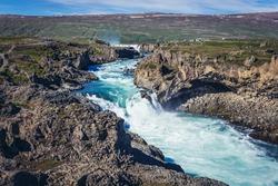 Geitafoss waterfall near Godafoss waterfall in Iceland
