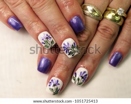 gel nails, painted #1051725413