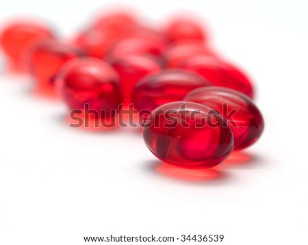 Gel vitamins isolated on a white background