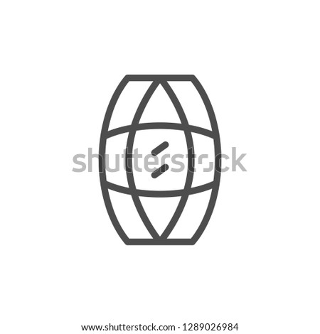Gem line icon isolated on white