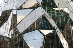 gemetric glass facade     Save to a Lightbox ?            Find Similar Images     Share ?    geometric glass facade