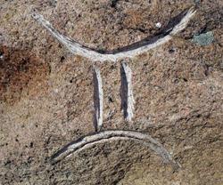 gemini zodiac sign curved in stone. Mystical signs