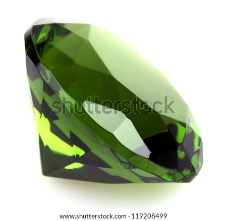gemstone isolated on white