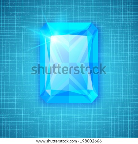 Gemstone on textured background. For your design