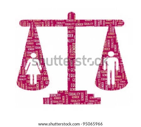 Gender Equality Concept in Word Collage