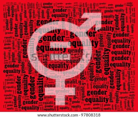 stock photo : Gender Equality Sign