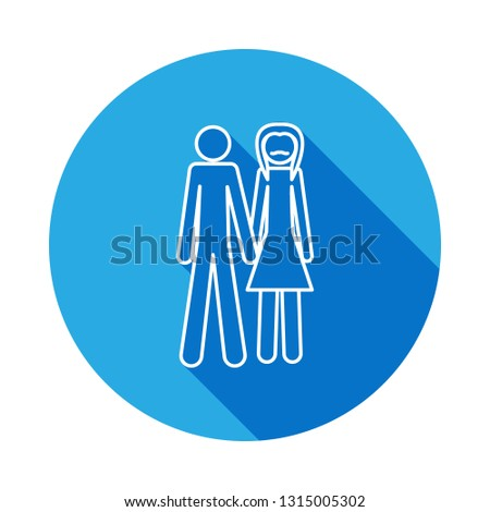 gender family icon with long shadow. Element of LGBT illustration #1315005302